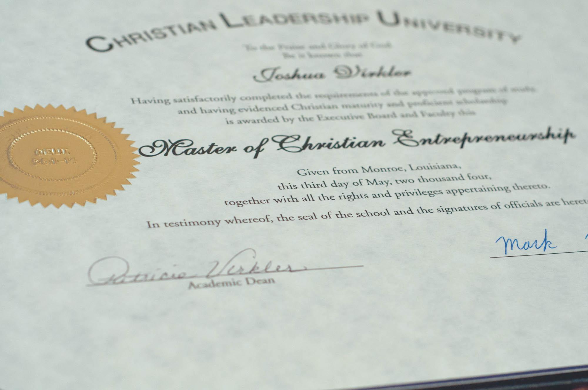 Degrees Christian Leadership University